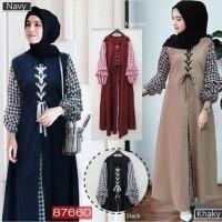 Soimah dres - gamis modern - dress muslim termurah - fashion terbaru