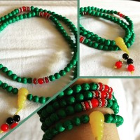 Gelang / Kalung Batu Alam Green Turquoise with Amber