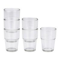 IKEA REKO Gelas / Cangkir / Mug Minuman, isi 6pcs, 17 cl, Kaca Bening