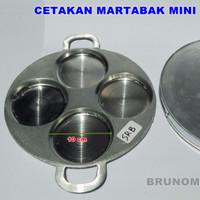 Cetakan Kue Martabak Mini 10cm MMT + Tutup