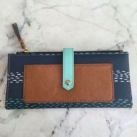 FOSSIL Keely tab blue dompet original