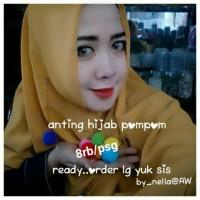 anting hijab pom pom 3cm