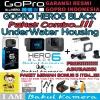 GOPRO HERO6 BLACK 4K (RESMI) / GOPRO HERO 6 PAKET SUPER MEWAH