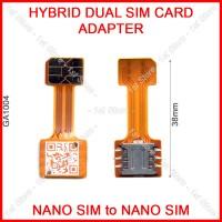 Hybrid Dual SIM On Adapter Micro SD Card Slot Converter Nano Extender