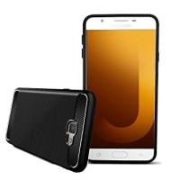 Case Samsung J7 Max Ipaky Carbon Fiber Soft Casing Hard Case Samsung