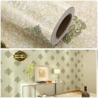 Harga wallpaper sticker dinding motif batik bunga | antitipu.com