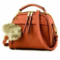 Quincy Label - Tas Pom - Pom Import / Women Fashion Bag - Brown