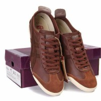 Sepatu Asics Onitsuka Tiger Mexico 66 Deluxe Brown / Coklat