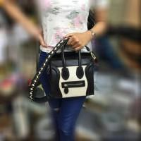 tas wanita import Celine nano kanvas tali studed