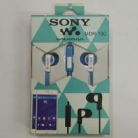 Handsfree Headset Earphone Walkman Sony MDR-100 Mic Talk HD Flat Audio