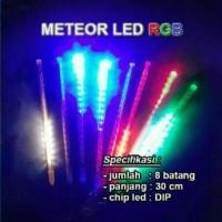 Lampu LED Hujan Meteor Dua Sisi RGB Warna Warni 30 cm Mitsuyama MS-360