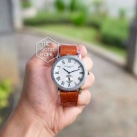 Jam Tangan Pria / Cowok Patek Philippe Chrono / Leather Brown