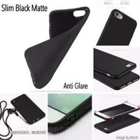 Slim Black Matte Lenovo K6 Power Vibe K6 5.0 inchi SoftCase Anti Glare