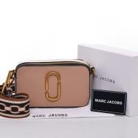 Tas Marc Jacobs Snapshot Double Zipper Taiga CREAM PINK Seprem Box 175 2d72b5b31a