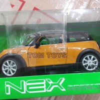Diecast Miniatur Mobil Nex Welly 1:24 New Mini Hatch Kuning Grosir
