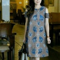 Dress Off Shoulder-minidress batik-fashion online-model sabri-MC