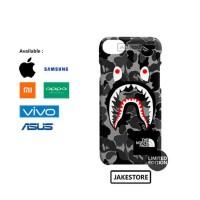 case oppo f3 plus Bape Shark Camo Pattern The North Face hardcase
