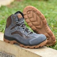 sepatu boots azcost grande safety suede high quality sol karet mentah