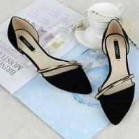 Harga sepatu cewek flat shoes sepatu flat murah flatshoes hitam | Pembandingharga.com