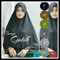Fashion wanita Kerudung Jilbab hijab instan pad syari bergo Gotik