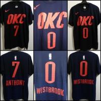 Kaos T-Shirt Basket Game Time NBA Oklahoma City OKC Thunder Westbrook