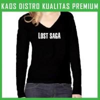Kaos Lost Saga Logo 2 Wanita Cewek Lengan Panjang WLP-TAE80