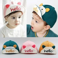 Topi kupluk hello katun halus untuk anak laki/perempuan, topi murah