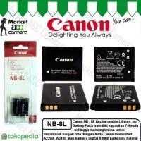 Battery Canon NB-8L (Canon Powershot A2200, A3000, A3100) Diskon