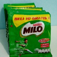 Susu coklat Milo 3in1 Activ-Go sachet 18gr harga murah