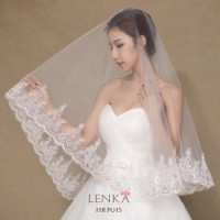 Kerudung / Veil / Slayer Rambut Pesta Wedding l Lenka - HRP015