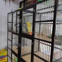 Kandang kucing Alumunium 3 lantai 6 kamar