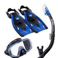 TUSA Mask+Snorkel+Fin Visio Tri-Ex Adut Travel Set UP-3521QB MB Dive