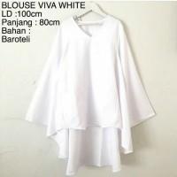 Busana wanita Murah Baju Atasan Blouse Viva White Baju Muslim Blus
