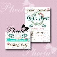 undangan sweet seventeen, ulang tahun, anniv, baby shower, pernikahan