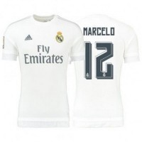 Jersey Sepakbola Real Madrid No 12 Marcelo Size M White