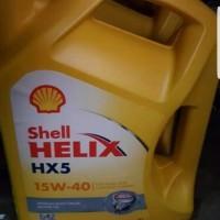 TERLARIS pasti laris SHELL HELIX HX 5 ORIGINAL SHELL KUNING 15W - 40