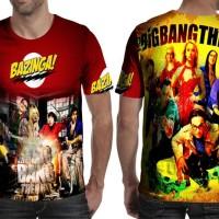 Kaos T-Shirt Lengan Pendek Full Print Custom The Bigbang Theory Art 2