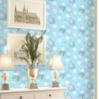 wallpaper motif bunga background biru muda M5094