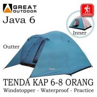 Terlaris Tenda Camping Java 6 Great Outdoor Kap 6-8 Orang Double Layer