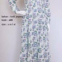 Dress Baju Gamis Jumbo Katun Jepang El Siete Model Terbaru Untuk ibu