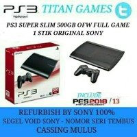 PS3 SUPER SLIM 500GB OFW FULL GAME REFURBISHED BY SONY Berkualitas