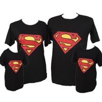 NEW Baju Kaos Pasangan Keluarga Couple Family Anak Ayah Bunda Superman