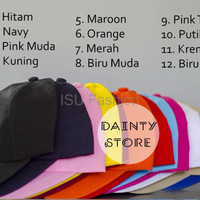 Grosir Topi Baseball Caps Polos Murah Custom Tumblr