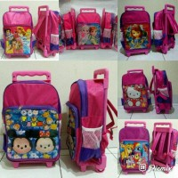 Tas troli anak trolley ransel Princess Sofia Frozen Hello Kitty murah