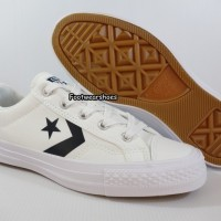 Sepatu Converse Star Player Ox // White Black 155410C