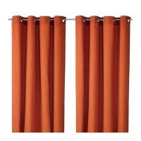 GO SEND IKEA MARIAM Curtains, Gorden 1 pasang, Oranye