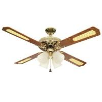 Uchida Ceiling Fan 52 inch Brass 4 Lampu CF-127 / Kipas Angin Gantung