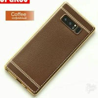 Samsung Galaxy Note 8 Note8 Soft TPU Leather Back Cover Case Casing