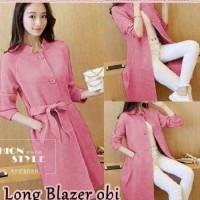 Long blazer obi (navy,maron,pink,abu)