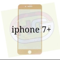 TEMPERED GLASS WARNA IPHONE 7+ (7 PLUS) WARNA GOLD FULL GORILA GLASS